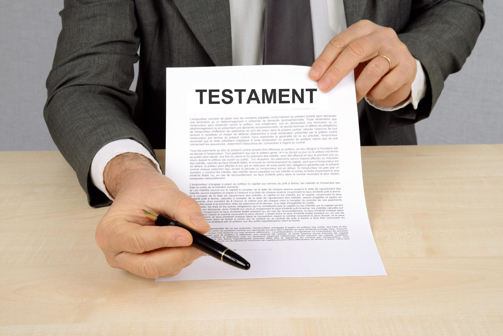 Testament - Vorlage, Muster & Vordruck kostenlos downloaden